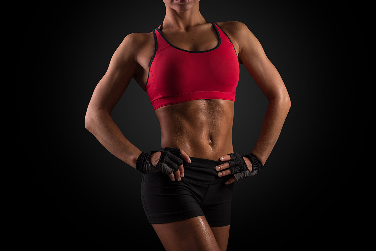 lean muscle mass woman