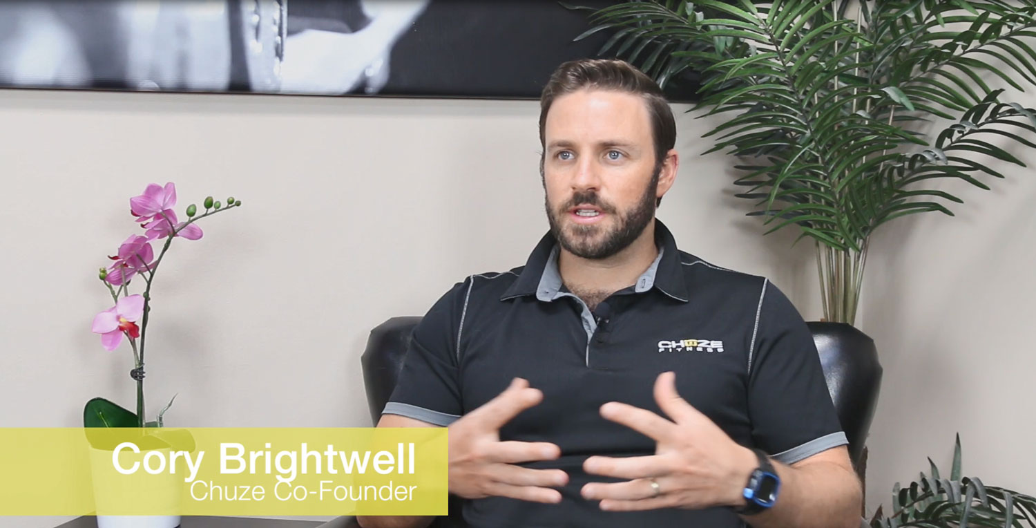 Cory Brightwell, the Chuze co-founder