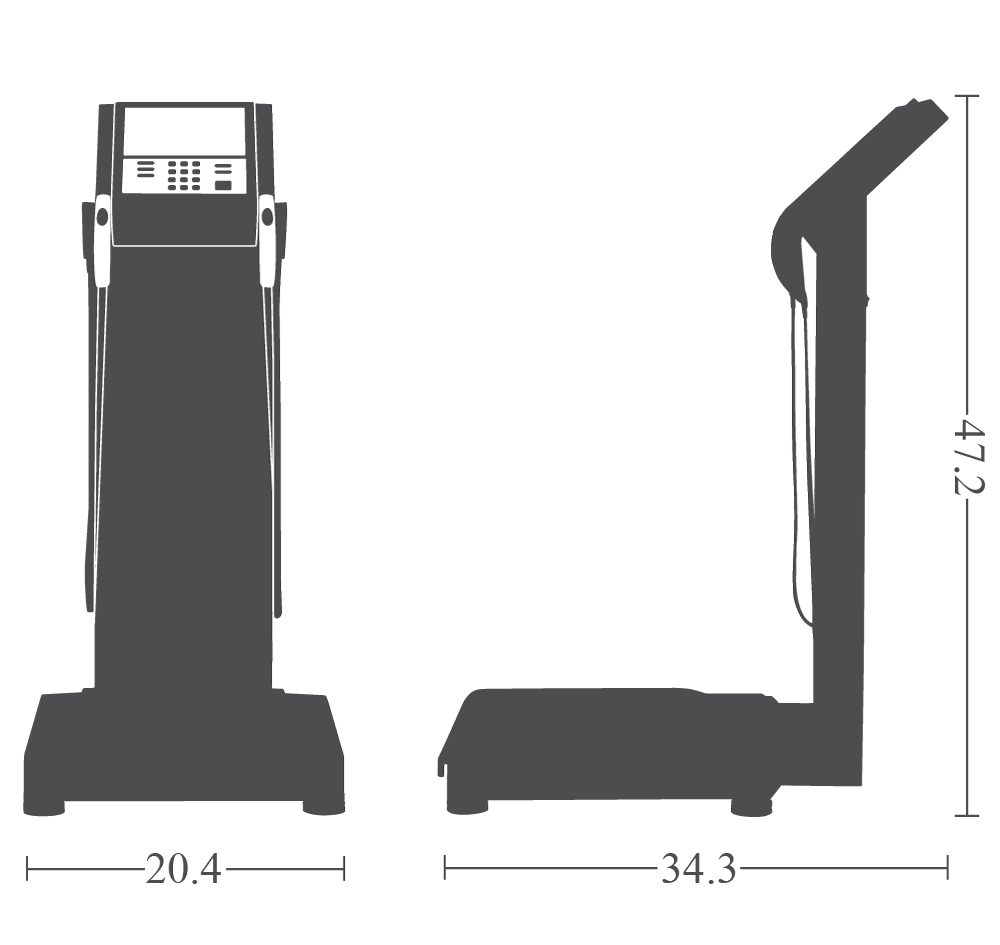 The InBody 770 dimensions specifications