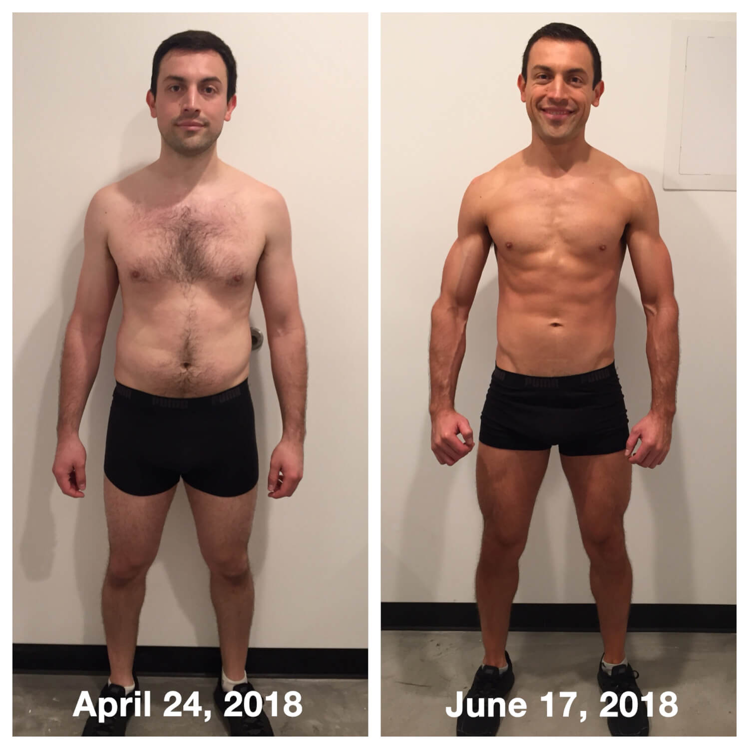 Javier Morquecho before and after body composition transformation story