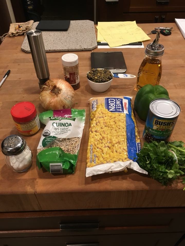 Brad's ingredients on table